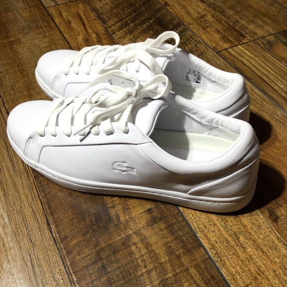 lacoste straightset leather sneaker